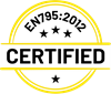 Tested and certified:  DIN EN 795:2012